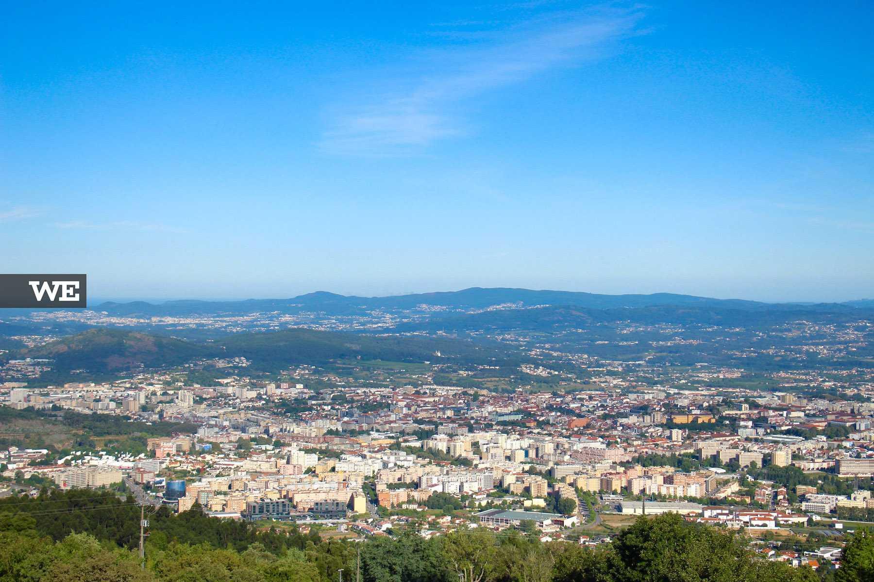 Vista sobre a cidade a partir do santuário do sameiro