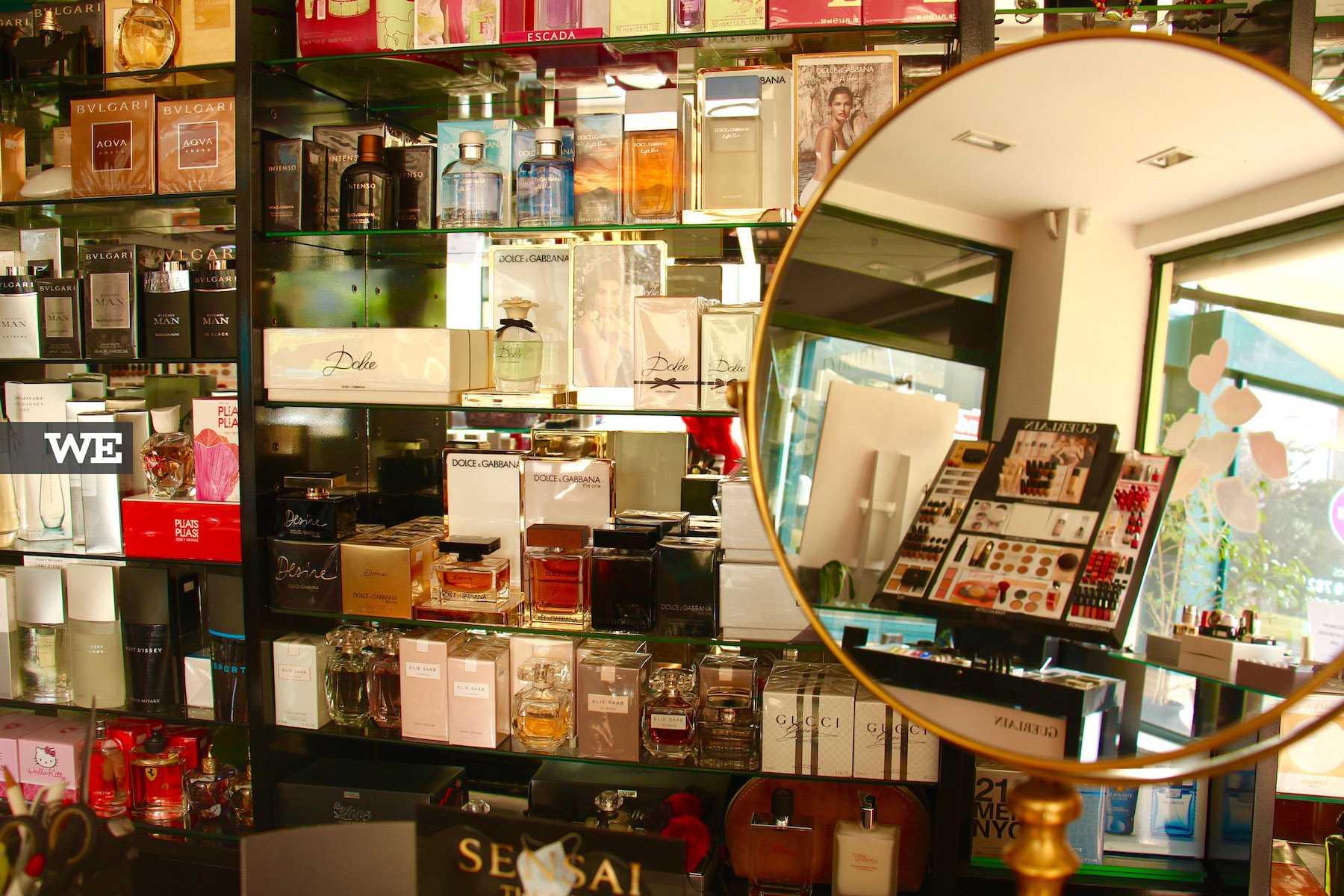 Interior da Visage Perfumaria