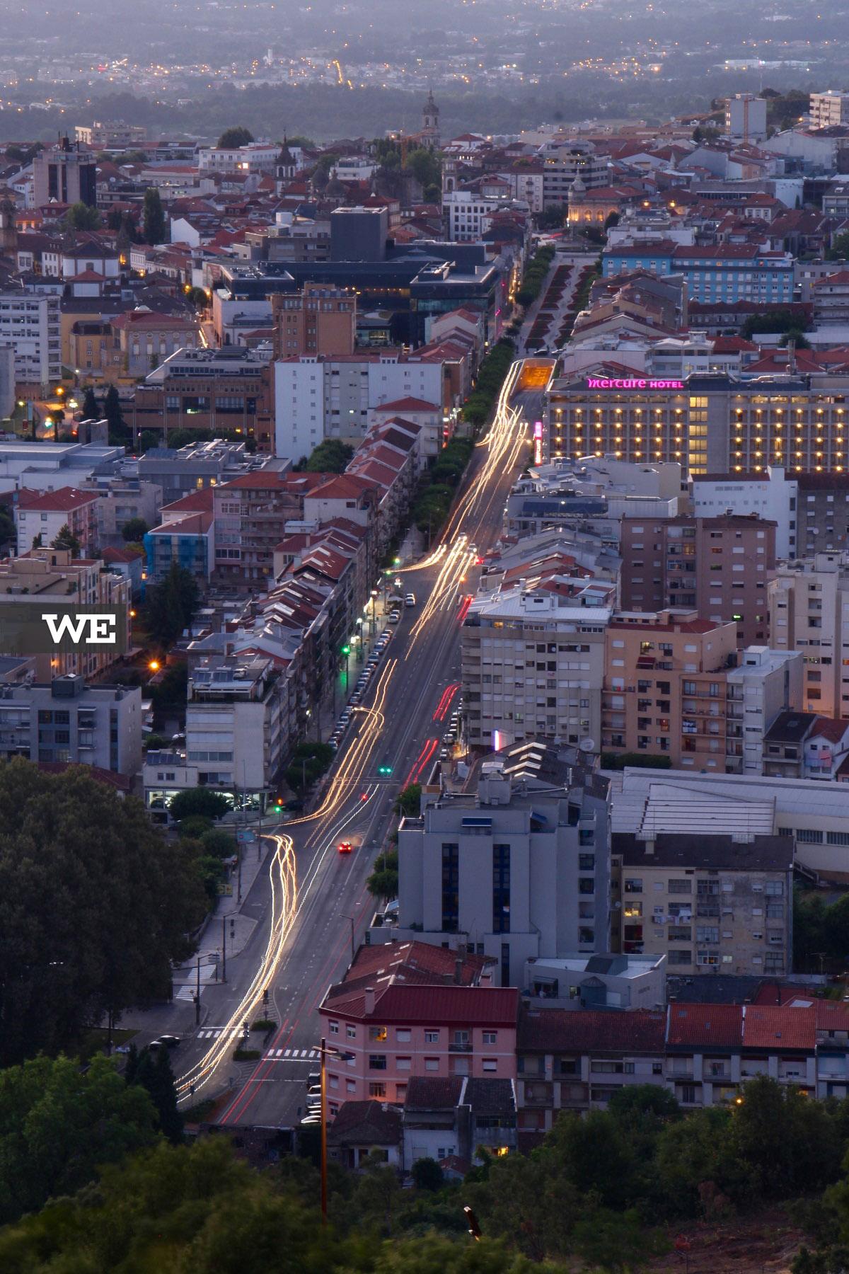 Vista do miradouro do Monte do Picoto, onde se tem uma vista privilegiada para a Avenida da Liberdade