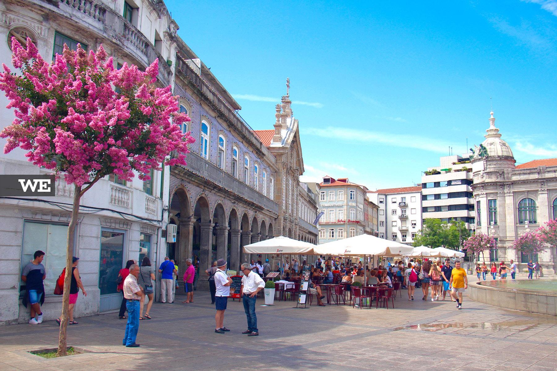 A Arcada de Braga, local de encontro da cidade.