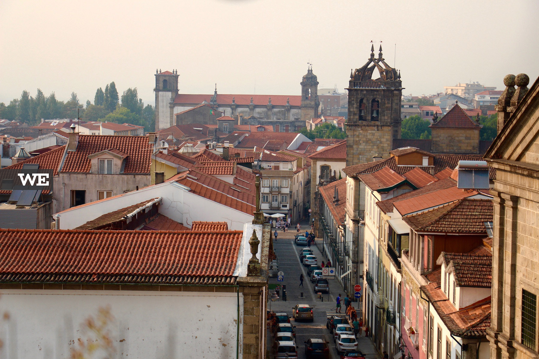 Vista para a Sé do cimo da Torre de Santiago