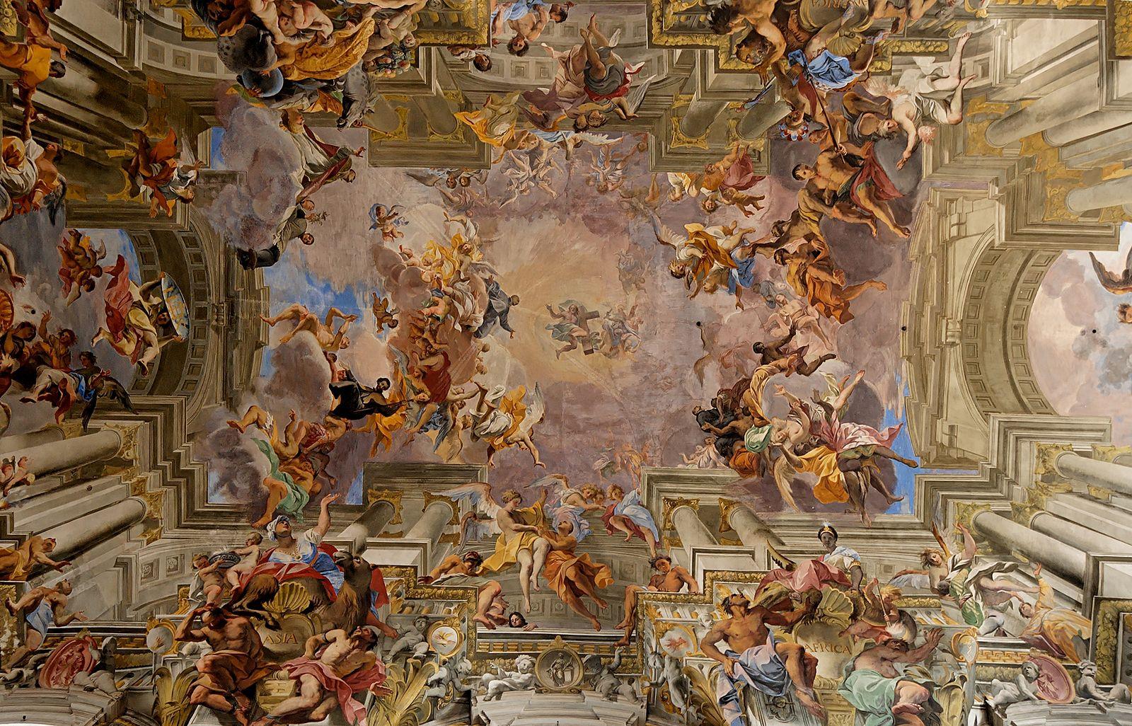 Fresco de Andrea Pozzo na Igreja de Santo Inácio, Roma