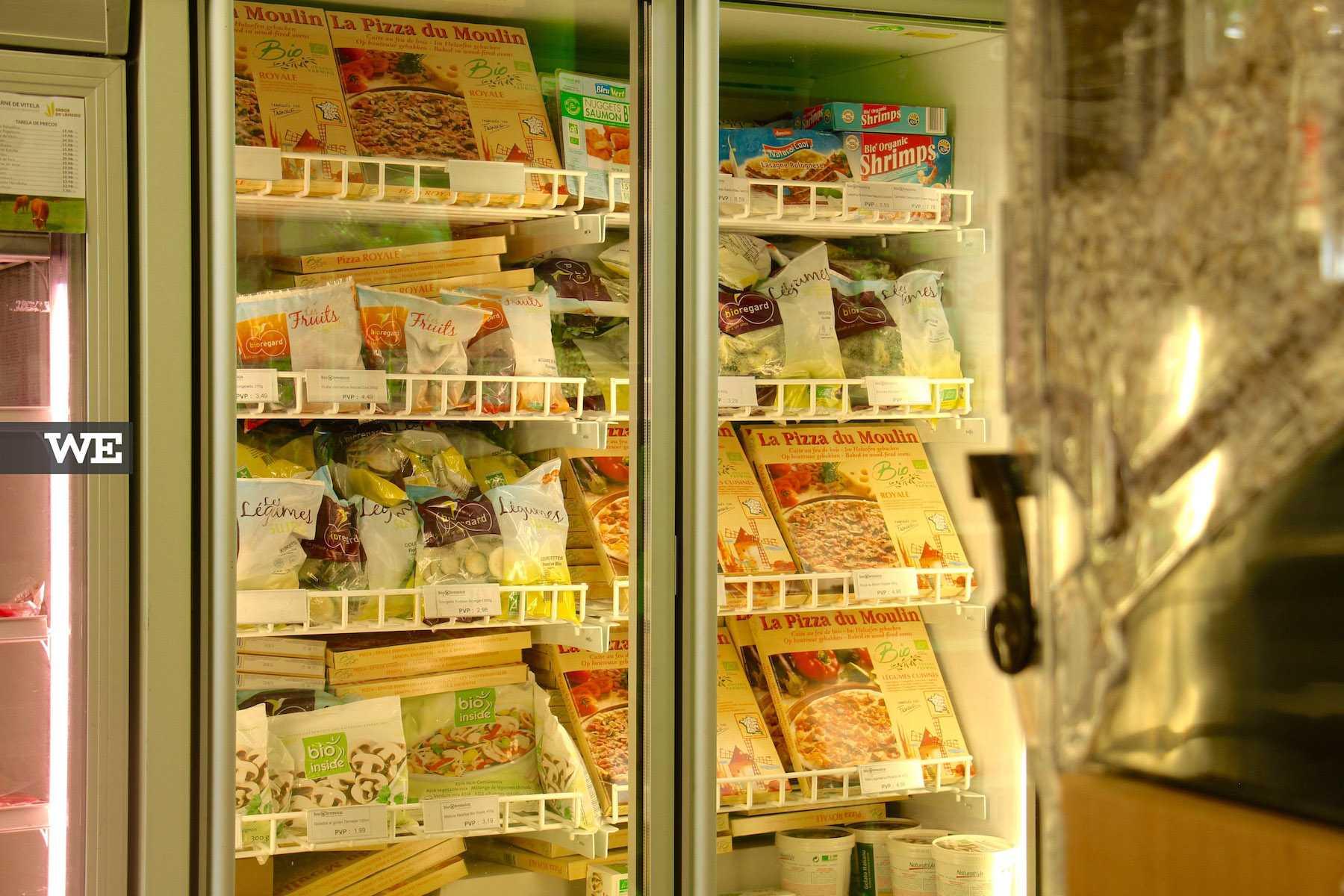 Congelados na Biobrassica, uma loja de produtos biológicos