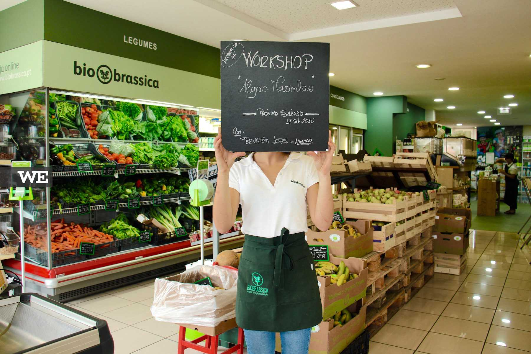 Workshops na Biobrassica, uma loja de produtos biológicos