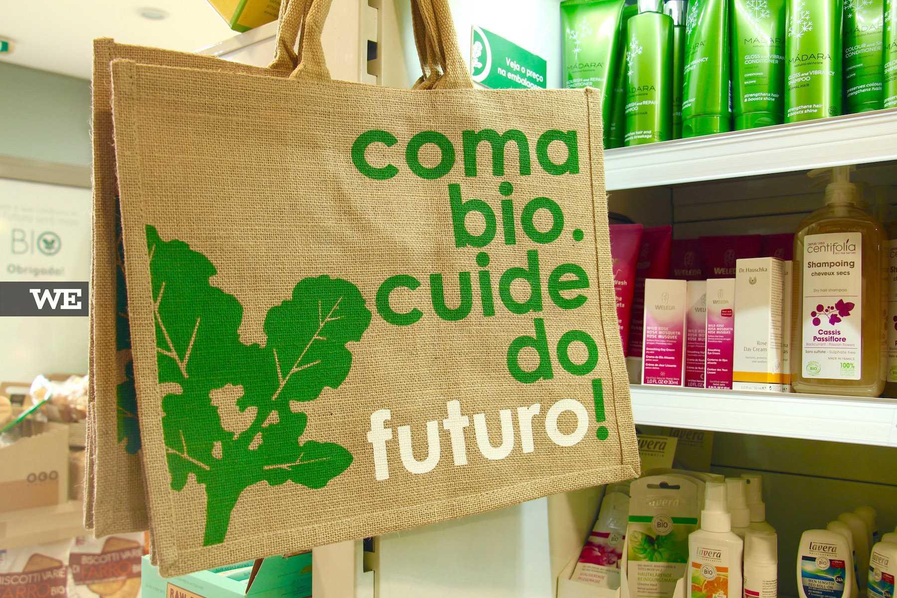 Coma BIO. Cuide do Futuro! Biobrassica, uma loja de produtos biológicos.