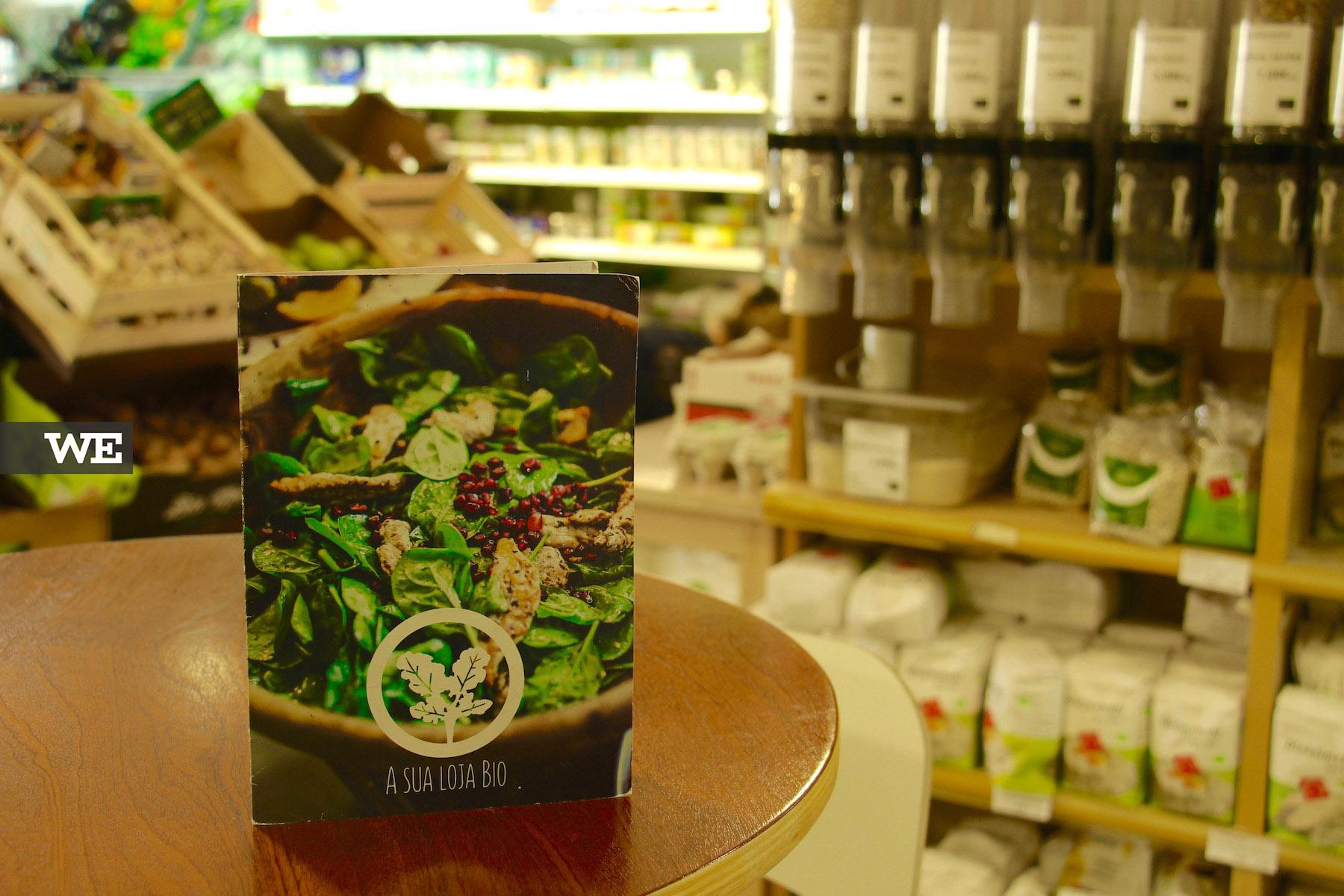 Cafetaria da Biobrassica, uma loja de produtos biológicos