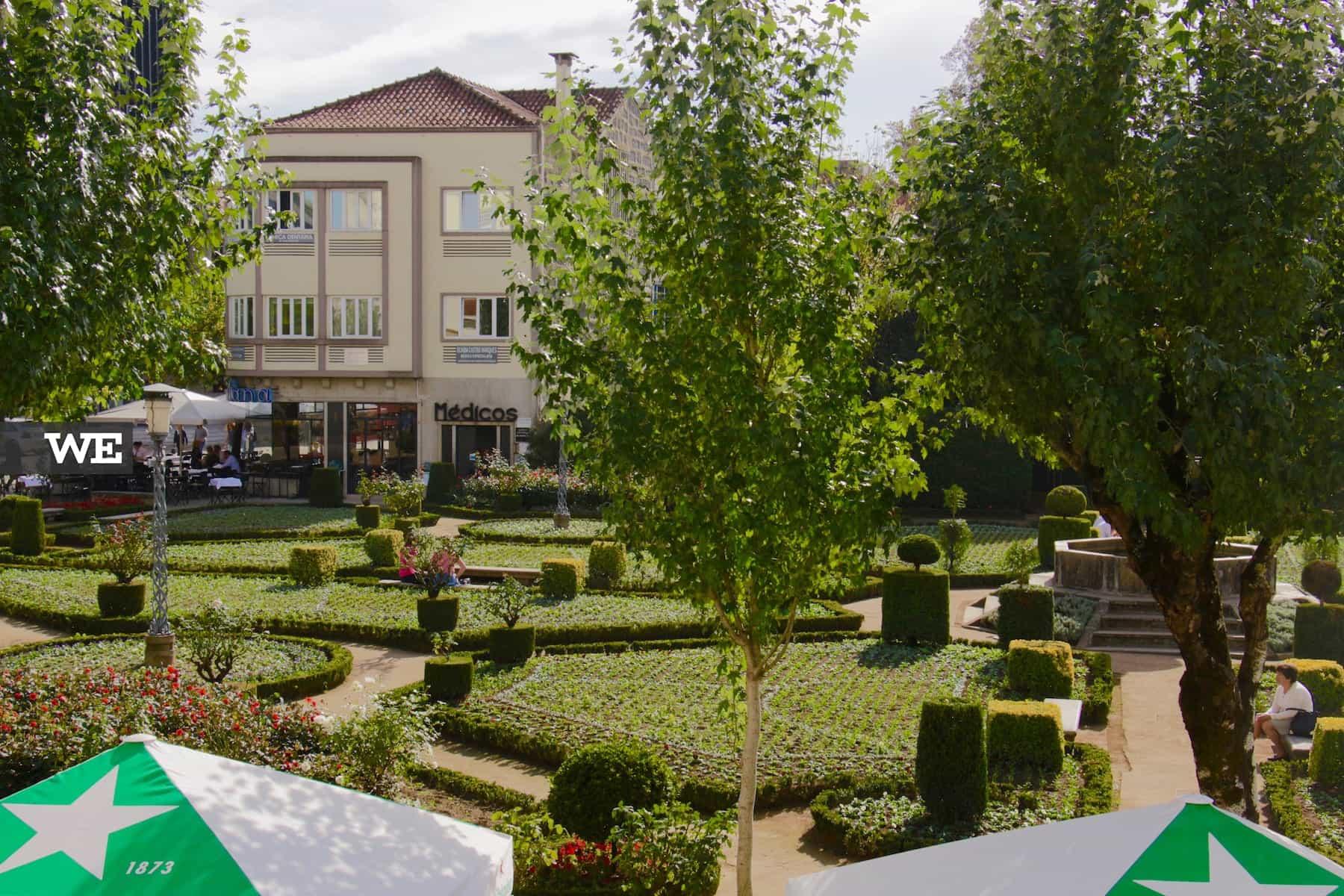 Jardim de Santa Bárbara ao lado do Alma d'Eça, um dos melhores restaurante de sushi em Braga - We Braga