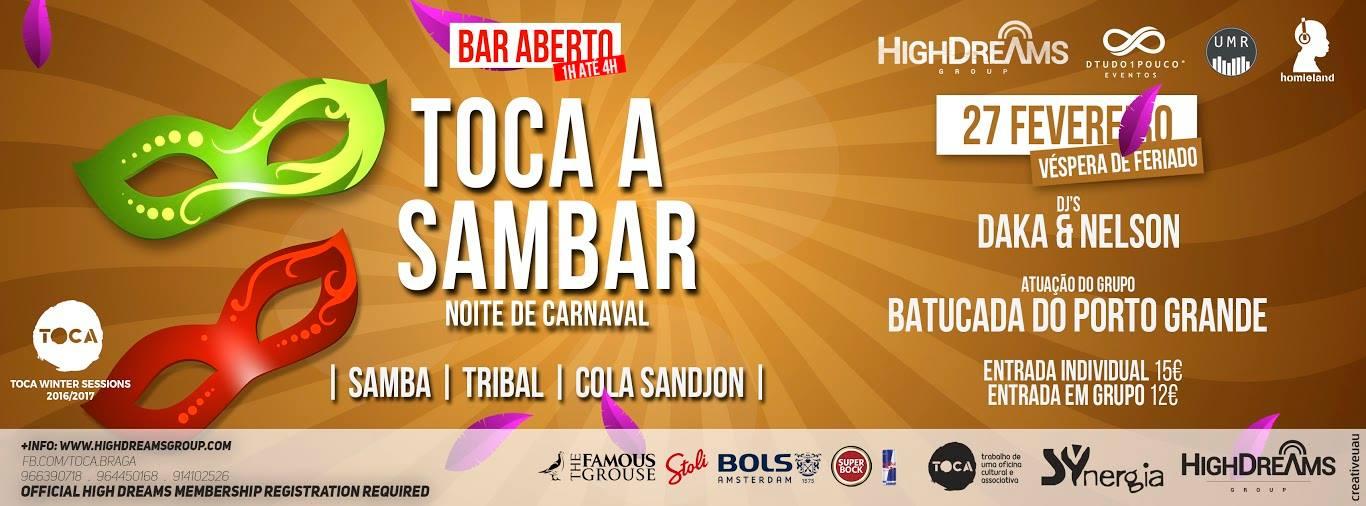 Toca a Sambar Carnaval 2017 Braga