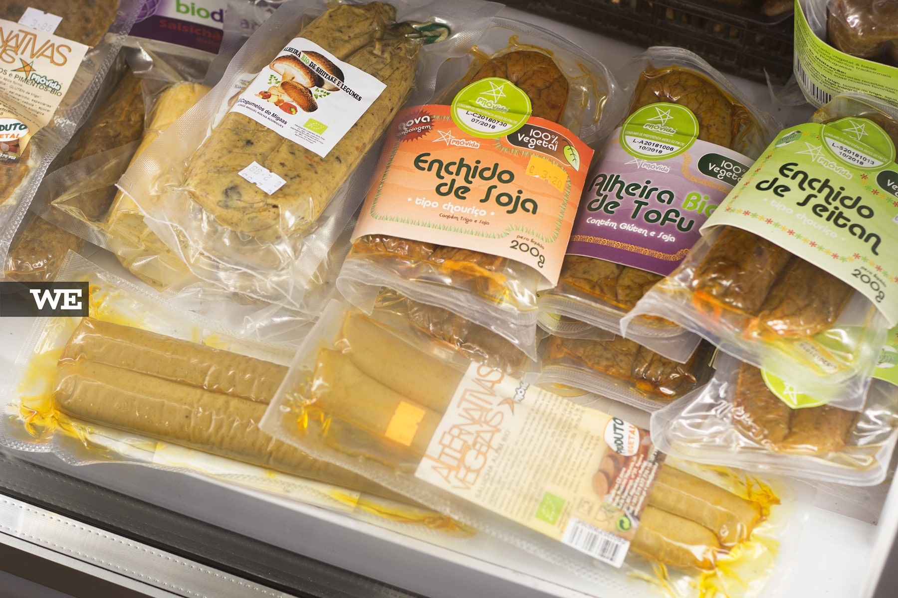 Variedade de Enchidos Vegan Mercado Bio