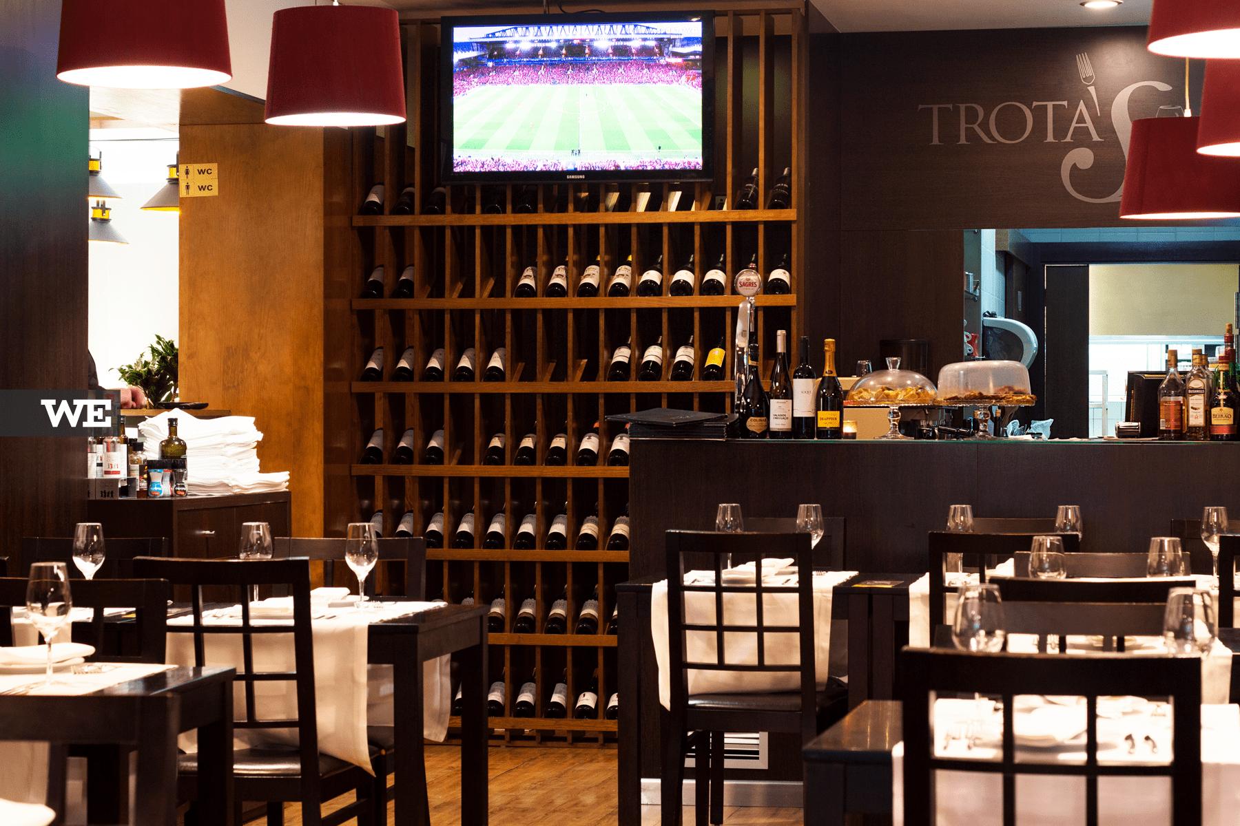 Futebol no Restaurante Trota's