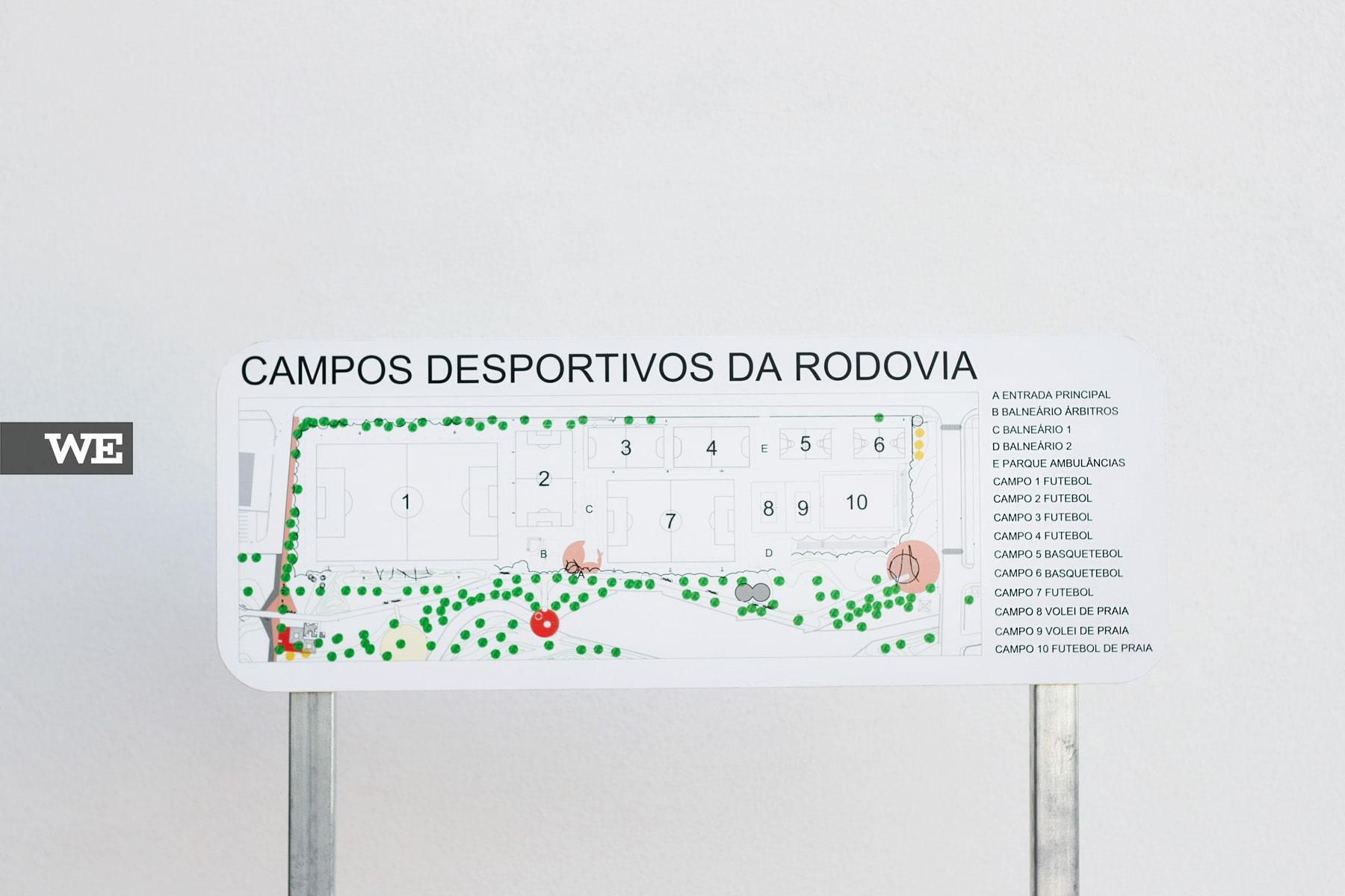 Mapa Parque Desportivo da Rodovia