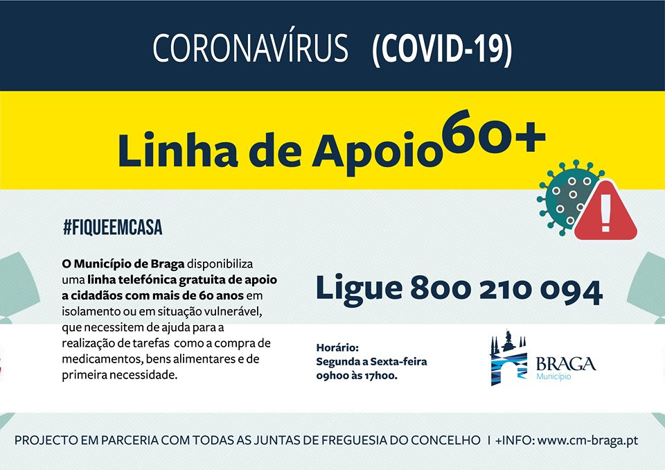 Linha de Apoio 60+ Covid-19